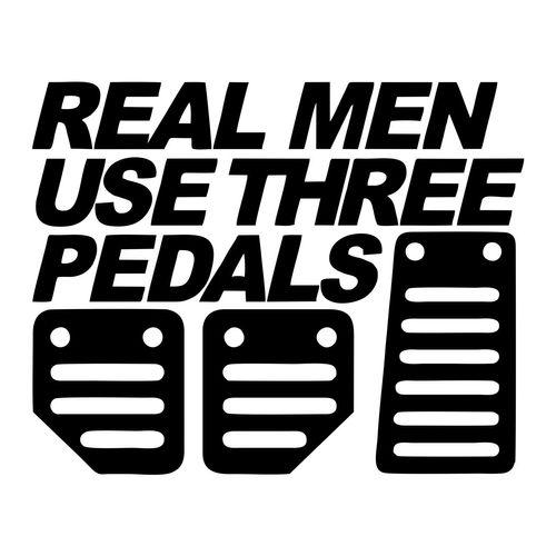 استیکر خودرو ونسونی طرح Real Men