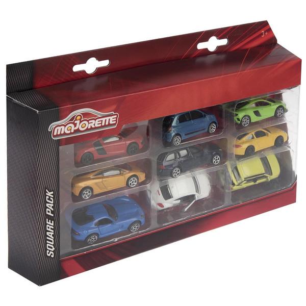 ماشین بازی ماژورت مدل Square Cars 0799 RBGبسته ی 9 عددی