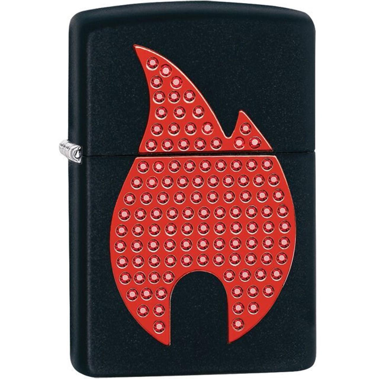 فندک زیپو مدل Bling Zippo Flame Black Matte کد 29106