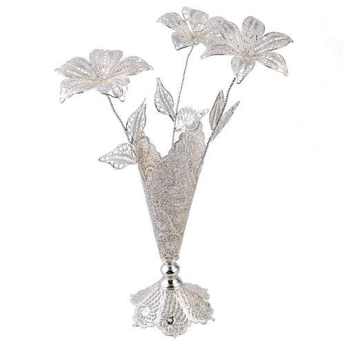 گل و گلدان ملیله گالری نقشینه کد 233002