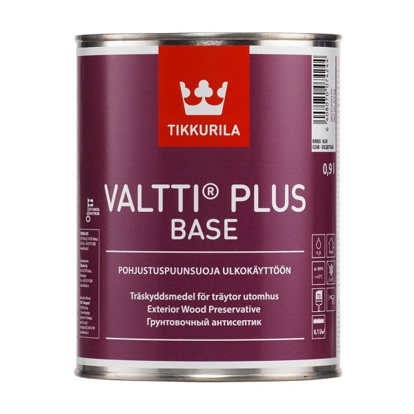 آستری چوب تیکوریلا پایه آب مدلValtti Plus Base حجم 1 لیتر