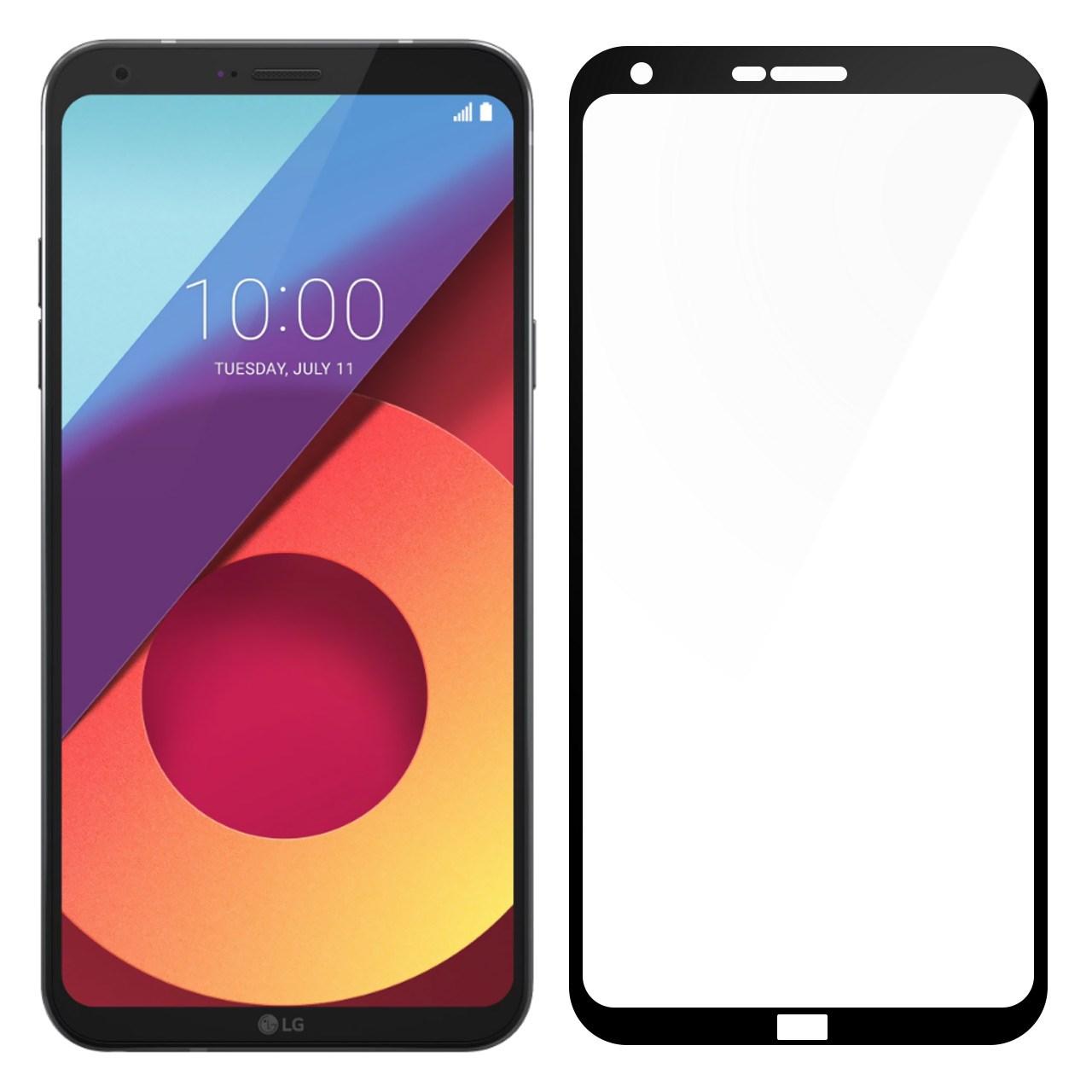 محافظ صفحه نمایش شیشه ای تمپرد مدل Full Cover مناسب برای گوشی موبایل ال جی Q6