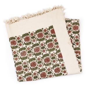 رومیزی چاپ دستی گالری گدار مدل گلستان قرمز