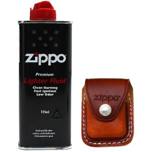 ست کیف فندک و بنزین زیپو مدل LPCBK 000001