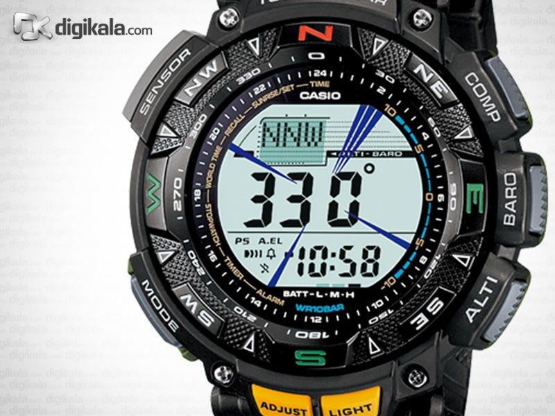 ساعت مچی دیجیتالی مردانه کاسیو پروترک مدل PRG-240-1DR