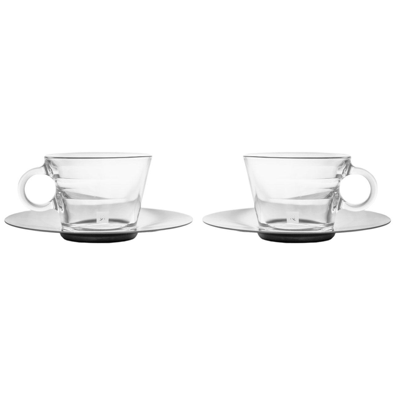 ست فنجان و نعلبکی نسپرسو مدل View Cappuccino بسته 2 عددی