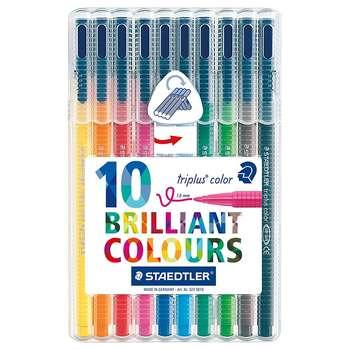 ماژیک 10 رنگ استدلر مدل Triplus Brilliant Colours