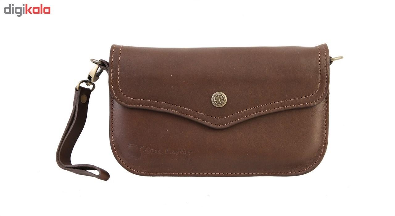 کیف دستی چرمی گالری چیستا کد 89030