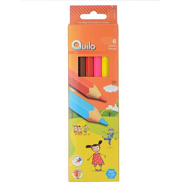 مداد رنگی 6 رنگ کوییلو مدل Jumbo کد 634011