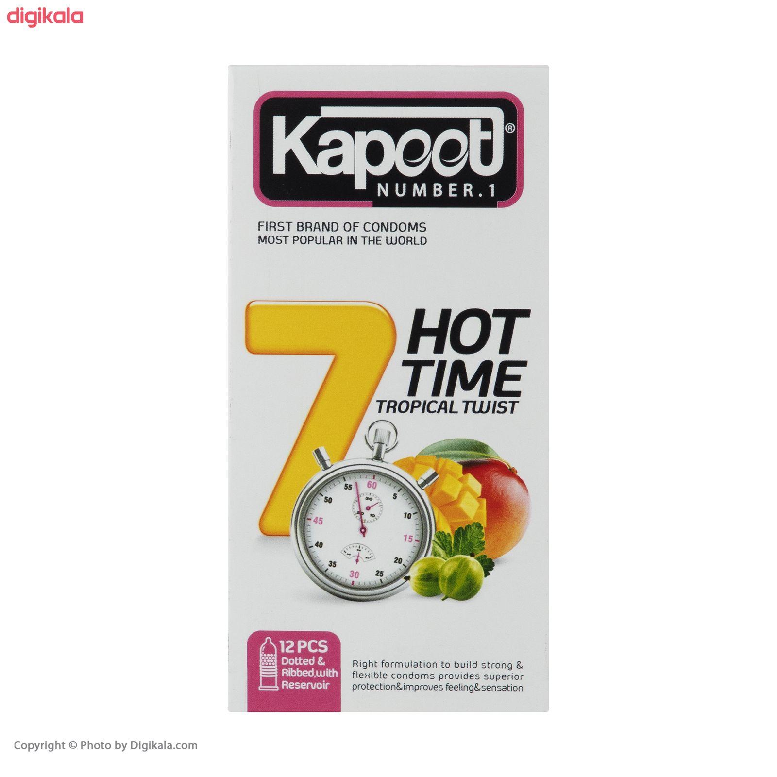 کاندوم کاپوت مدل 7Hot Time  بسته 12 عددی main 1 3