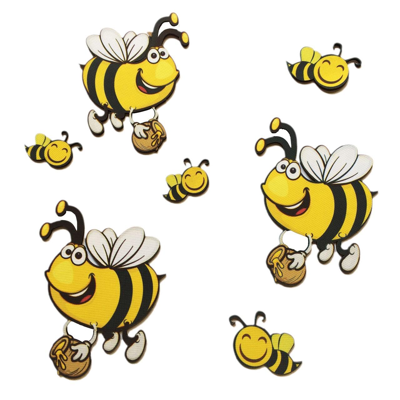 استیکر چوبی جیک جیک مدل کاراکتر زنبورها