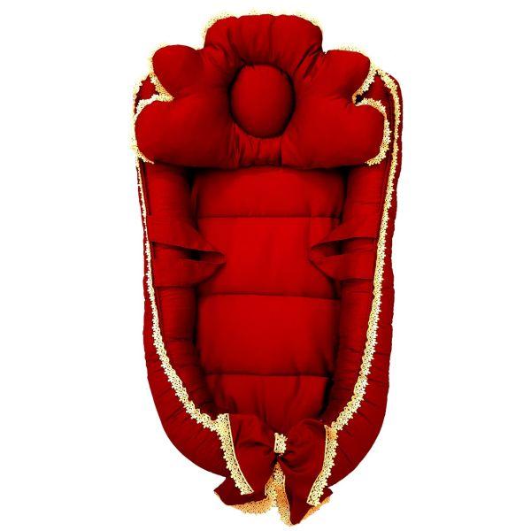 سرویس 3 تکه خواب نوزادی تاپ دوزانی مدل فرشته سرخ