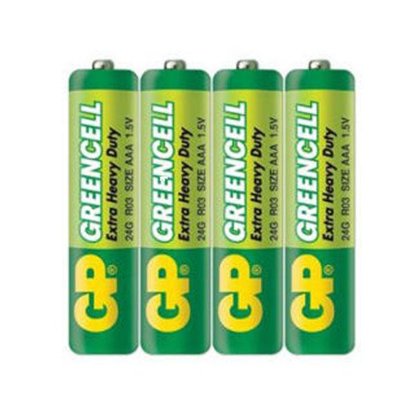 باتری  نیم قلمی جی پی مدل Green Cell بسته 4 عددی