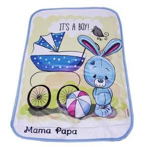 زیرانداز تعویض نوزاد ماما پاپا طرح کالسکه و خرگوش کد 219