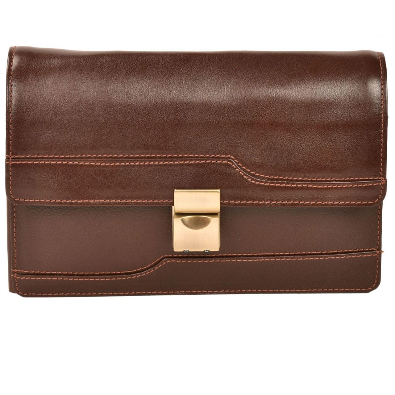 کیف دستی چرم طبیعی کهن چرم مدل 7-DB33