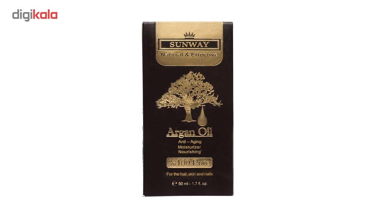 روغن آرگان سان وی مدل Argan Oil حجم 50 میلی لیتر