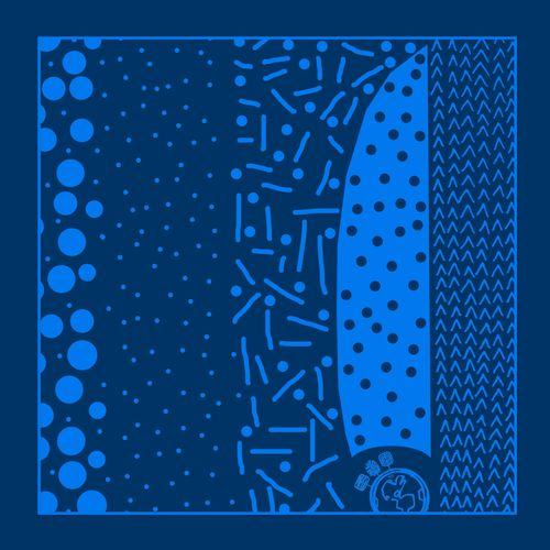 کادوپیچ پارچهای گوشه طرح کهکشان
