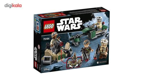 لگو سری Star Wars مدل Rebel Trooper Battle Pack 75164