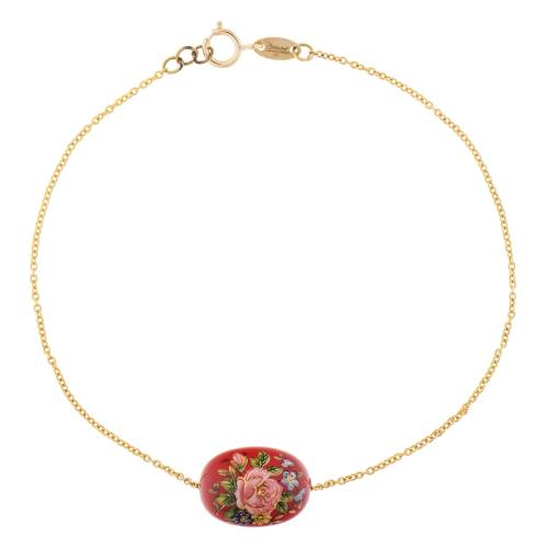 دستبند طلا 18 عیار ماهک مدل MB0199