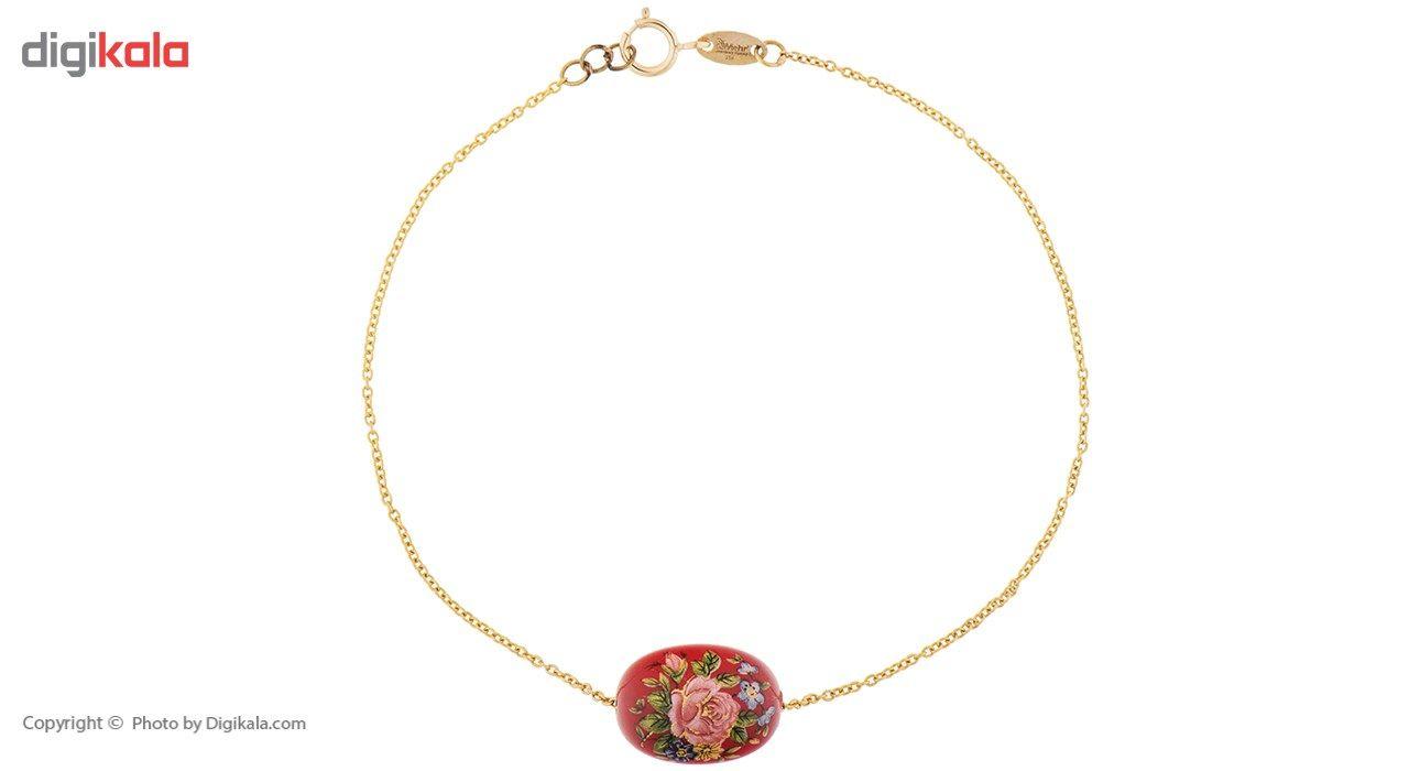 دستبند طلا 18 عیار ماهک مدل MB0199 - مایا ماهک -  - 2