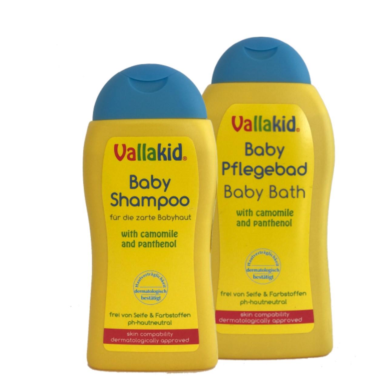 پک شامپو مراقبت از پوست و مو کودک والاکید مجموعه 2 عددی