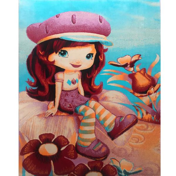 فرش ماشینی پارسه  طرح دختر توت فرنگی  FSA301