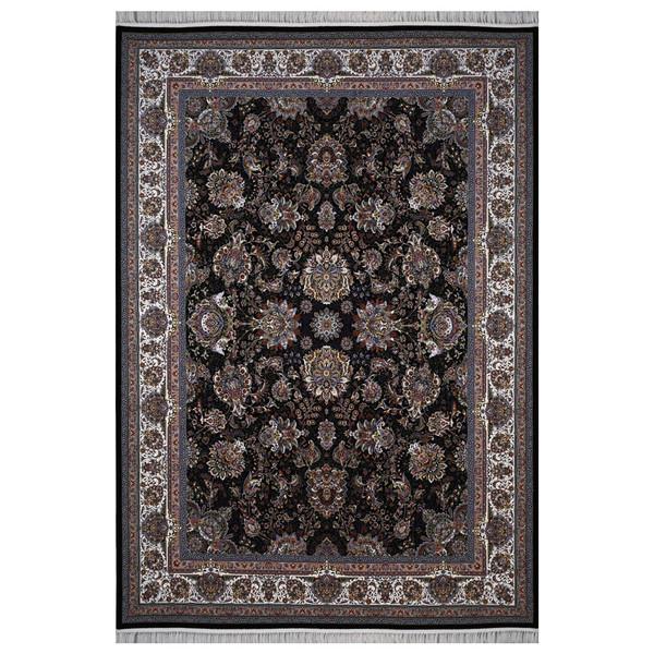فرش ماشینی فرش هدیه طرح یاشار زمینه سورمه ای