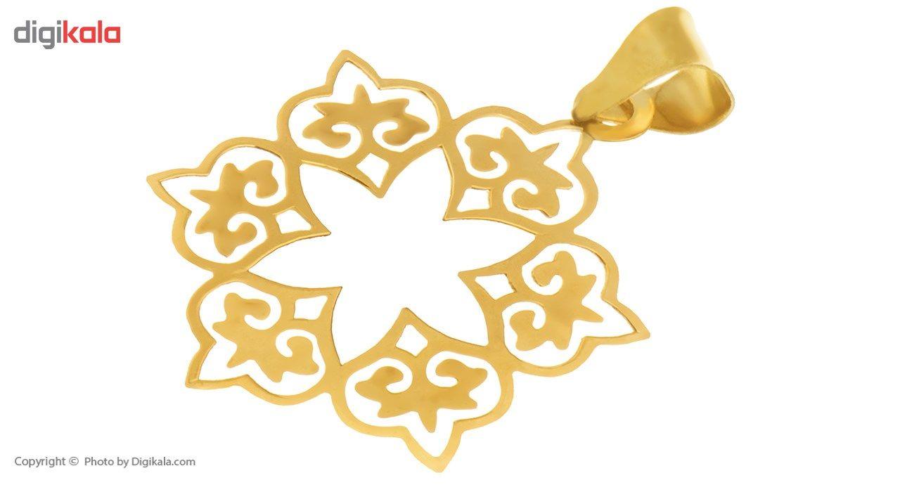آویز گردنبند طلا 18 عیار ماهک مدل MM0439 -  - 1