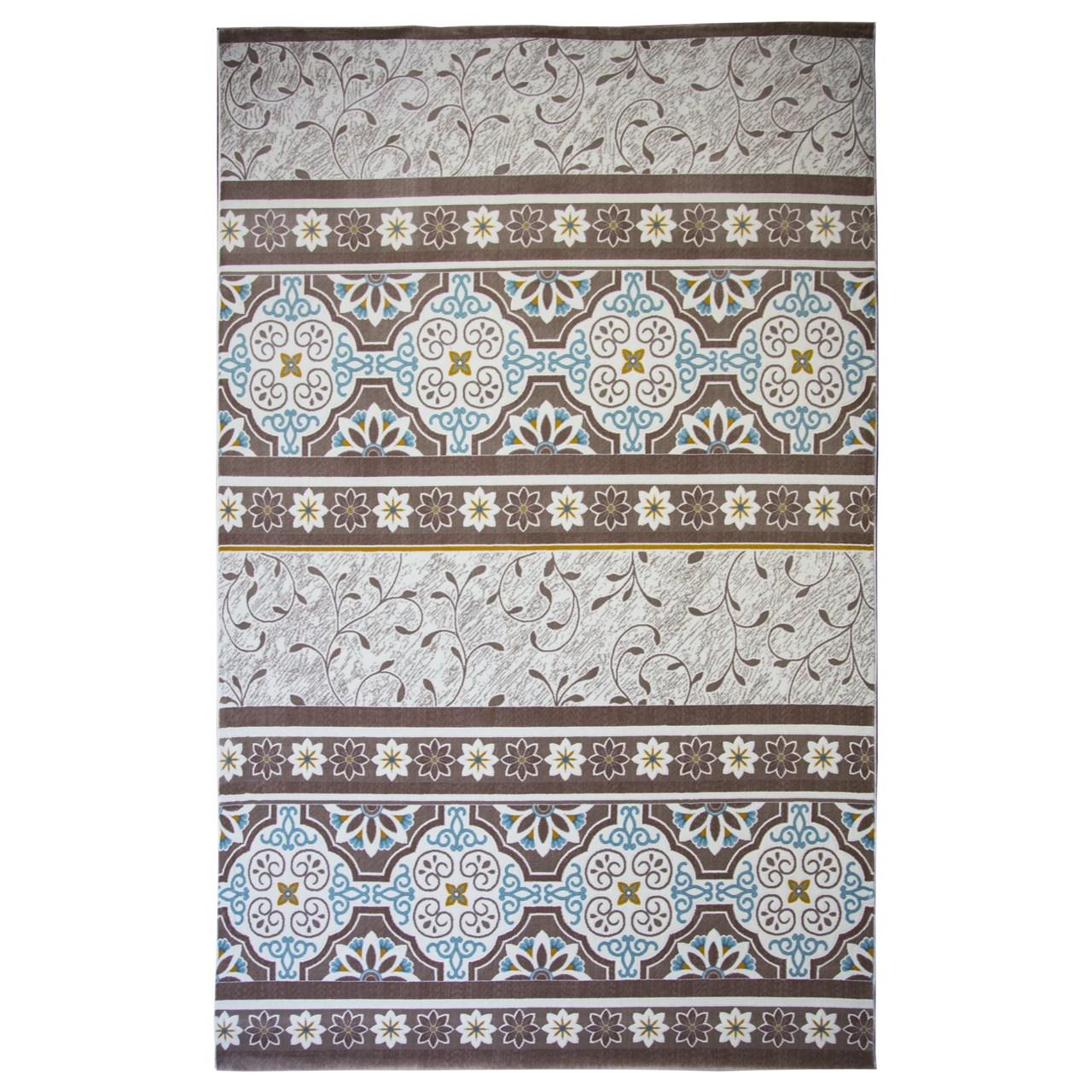 فرش ماشینی ساوین کد 1502 زمینه آبی