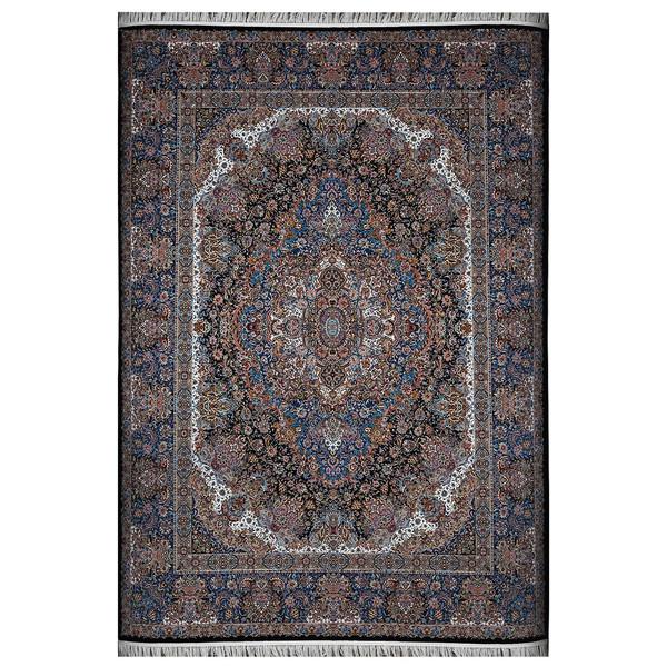 فرش ماشینی فرش هدیه طرح سالاری زمینه سرمهای