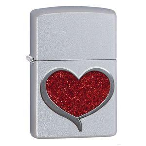 فندک زیپو مدل GLITTER HEART 29410