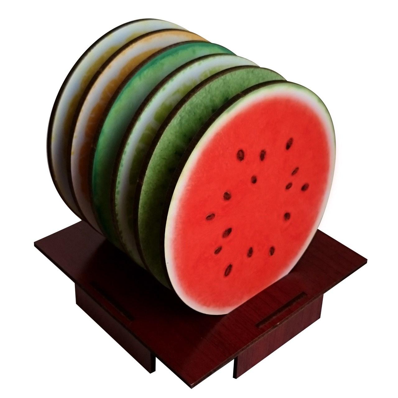 عکس زیرلیوانی ژیوار طرح Fruits