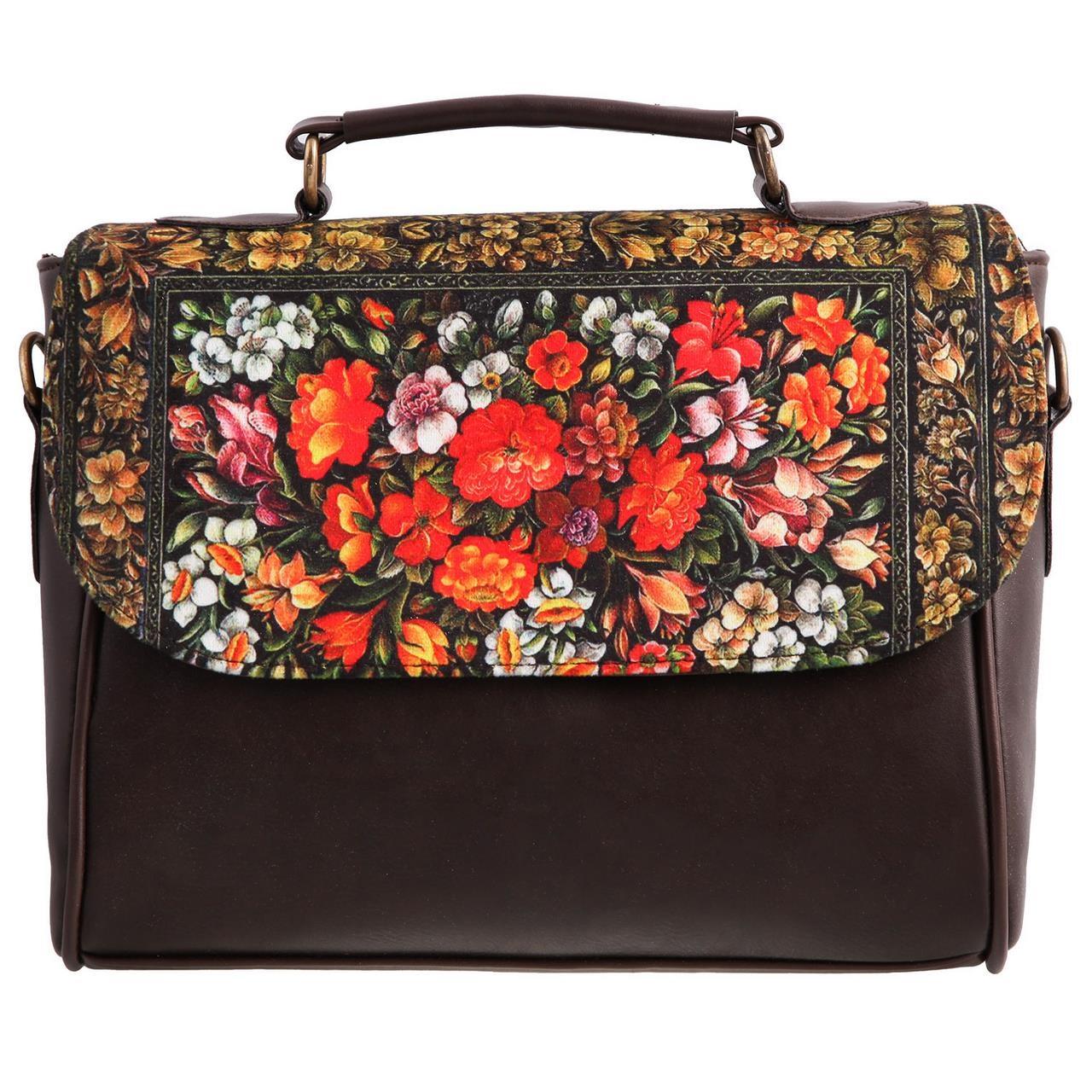 کیف دوشی زنانه گالری وستای مدل گل و مرغ کد 91038