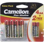 باتری قلمی و نیم قلمی کملیون مدل Plus Alkaline بسته 6 عددی thumb