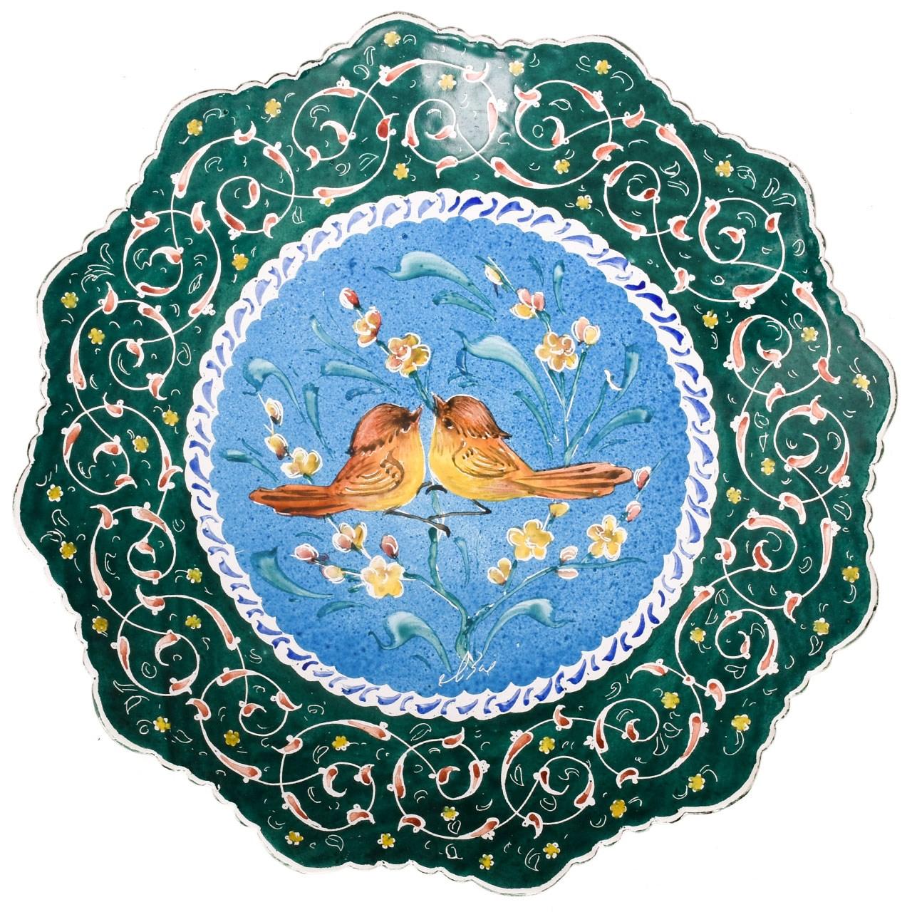 Copper Enamel Plate with 20 cm diameter, 14-00 Model