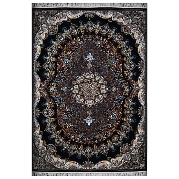 فرش ماشینی فرش هدیه طرح شکوه زمینه سرمهای