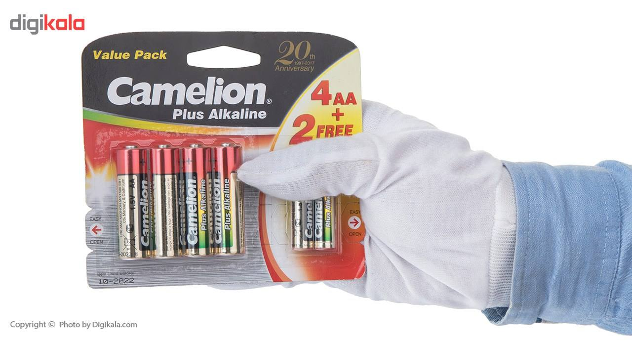 باتری قلمی و نیم قلمی کملیون مدل Plus Alkaline بسته 6 عددی main 1 3