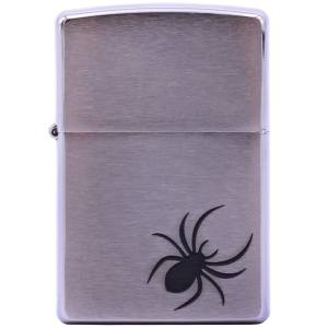 فندک زیپو مدل Spider Brushed Chrome کد 29202