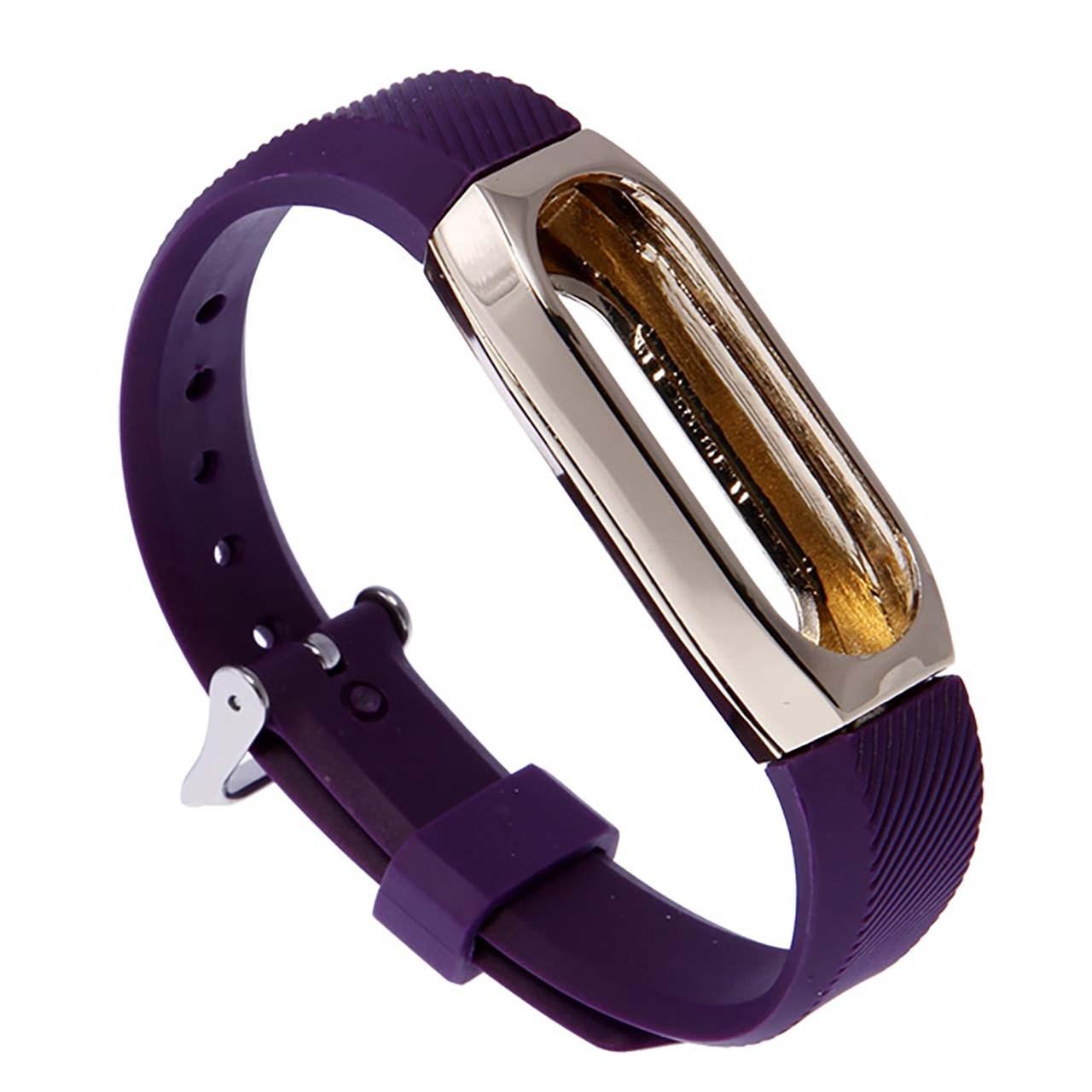 بند مچ بند هوشمند شیائومی مدل Xiaomi Band 2 With Bumper Purple