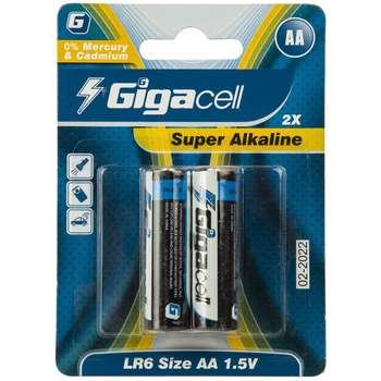 باتری قلمی گیگاسل مدل Super Alkaline - بسته 2 عددی