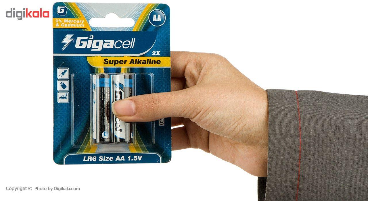 باتری قلمی گیگاسل مدل Super Alkaline - بسته 2 عددی main 1 2