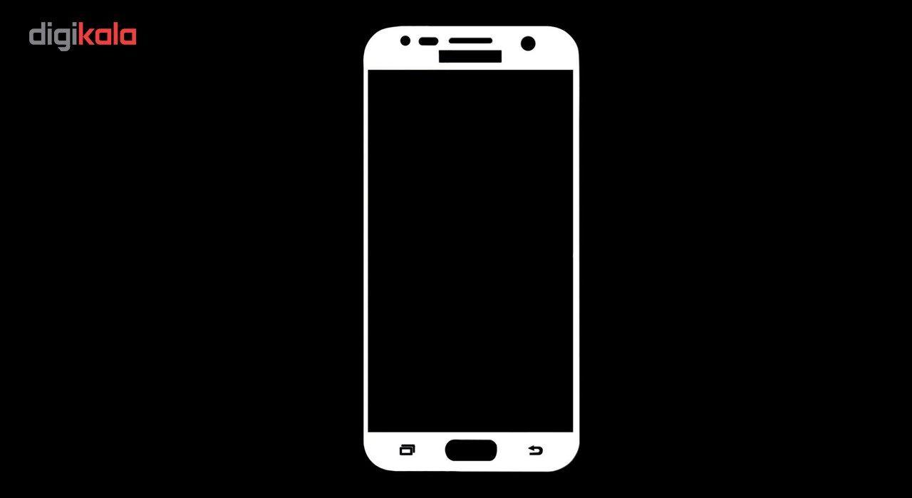 محافظ صفحه نمایش شیشه ای تمپرد مدل Full Cover مناسب برای گوشی موبایل سامسونگ Galaxy J5 Prime main 1 3