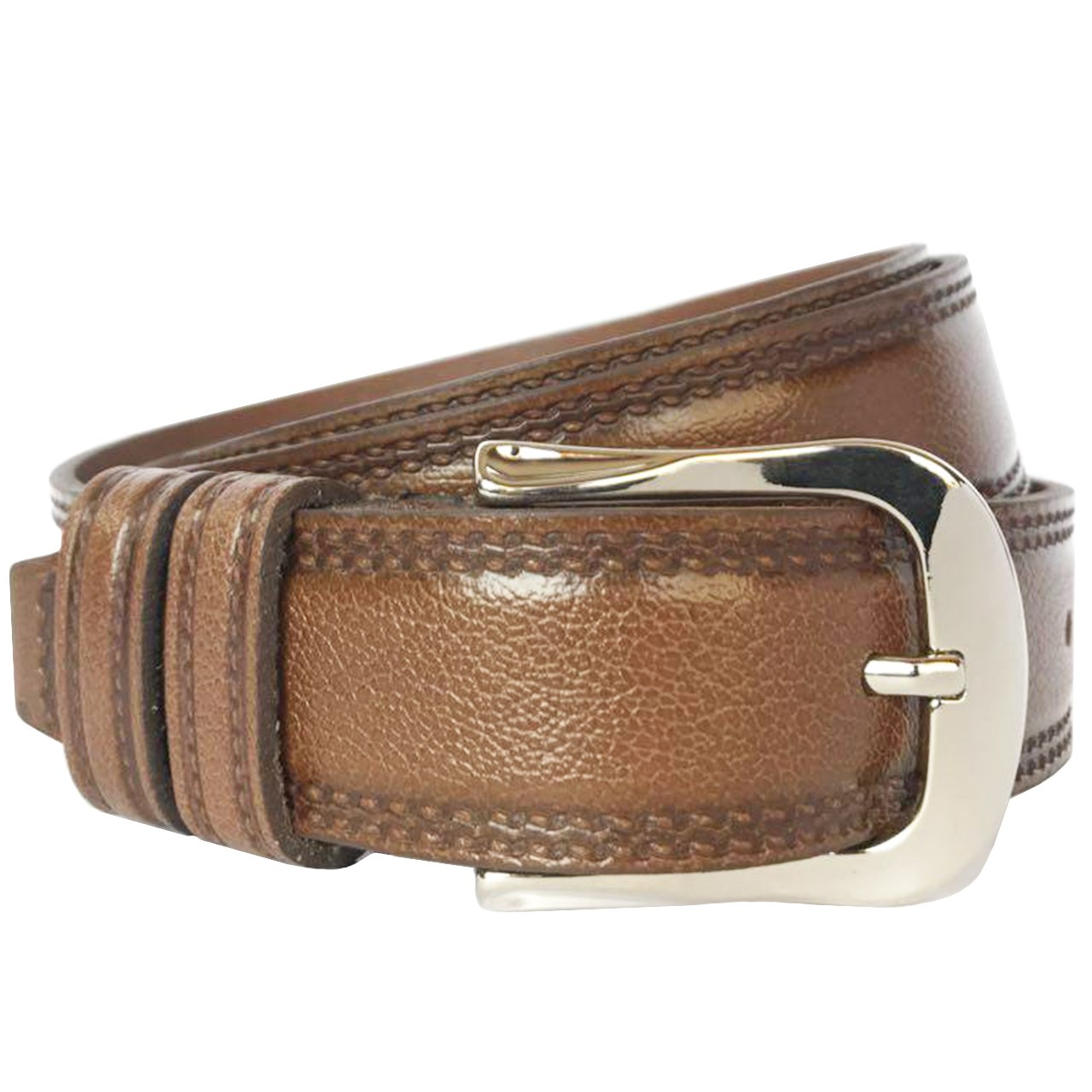 RAYA NATURAL LEATHER MEN'S BELT, MODEL PATTERNED
