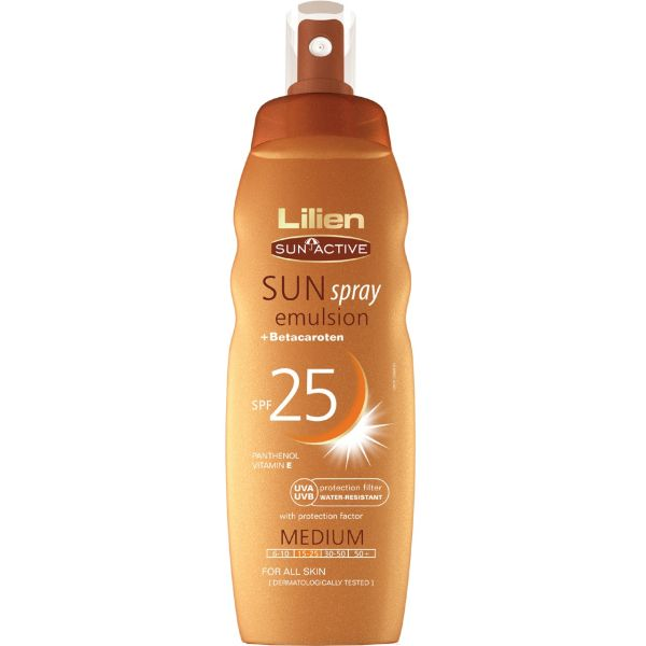 اسپری آفتاب لیلین سان اکتیو مدل Sun Spray With Betacaroten با SPF25 حجم 200 میلی لیتر