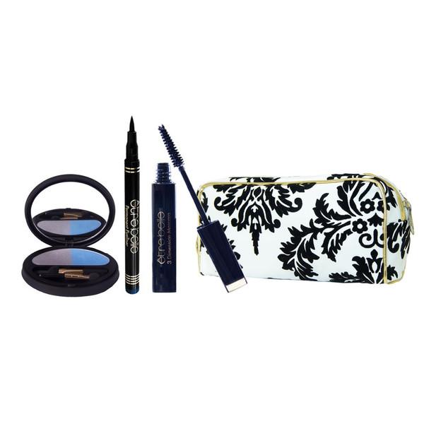 پک آرایشی چشم اتق بل مدل10 مجموعه سه عددی به همراه کیف لوازم آرایش