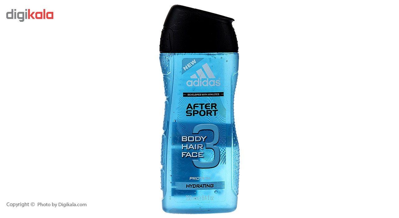 شامپو سر و بدن مردانه آدیداس مدل After Sport حجم 250 میلی لیتر main 1 1