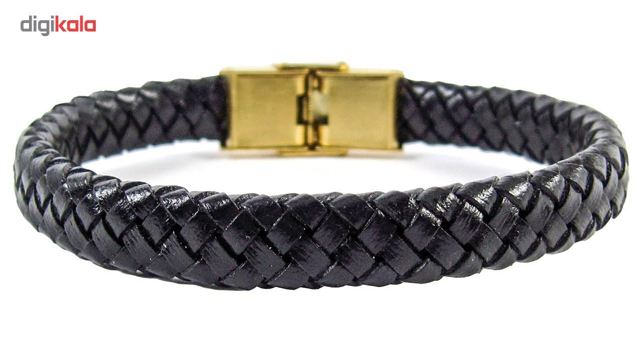 دستبند چرم طبیعی گالری حامد مدل bl4017
