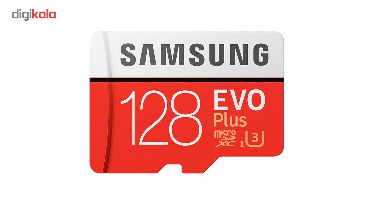 کارت حافظه microSDXC سامسونگ مدل Evo Plus کلاس 10 استاندارد UHS-I U3 سرعت 100MBps همراه با آداپتور SD ظرفیت 128 گیگابایت main 1 2