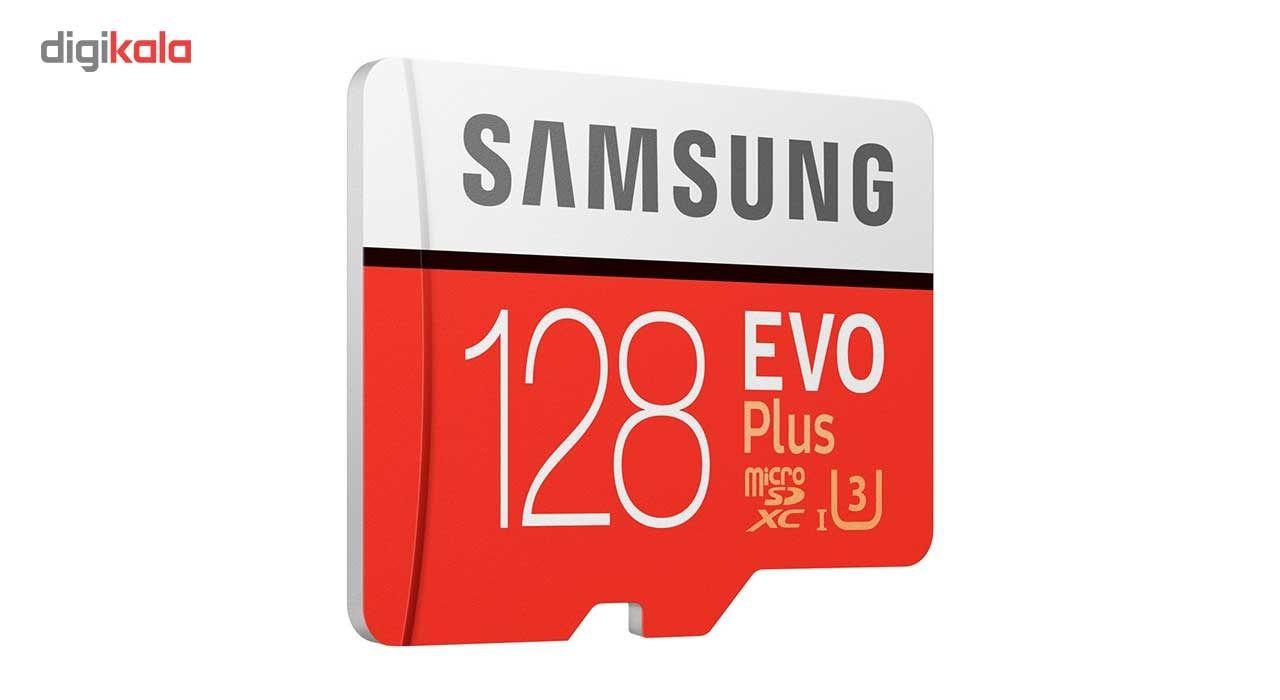 کارت حافظه microSDXC سامسونگ مدل Evo Plus کلاس 10 استاندارد UHS-I U3 سرعت 100MBps همراه با آداپتور SD ظرفیت 128 گیگابایت main 1 3
