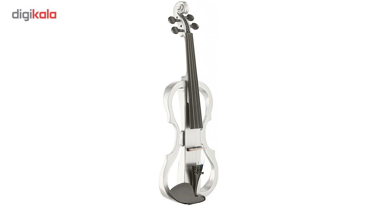 ویولن الکتریک استگ مدل EVN X-4/4 WH  Stagg EVN X-4/4 WH MBK Electric Violin
